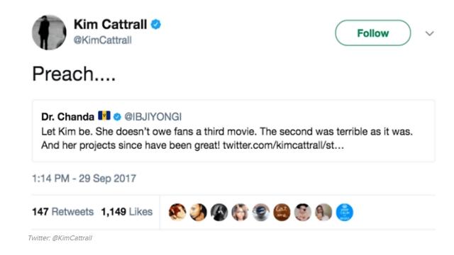 קטרל מסכימה שהסרט השני נורא