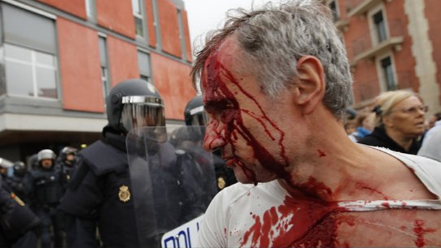 Man injured in clashes in Catalonia