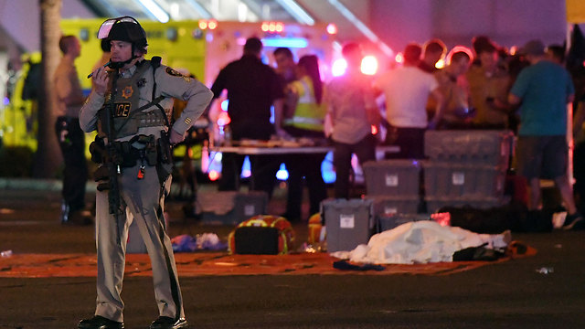Scene of Las Vegas Strip shooting. Someone who jumps for joy when a 'non-Muslim' carries out a massacre usually keeps quiet when 'an actual Muslim' carries out a massacre    (Photo: AFP)