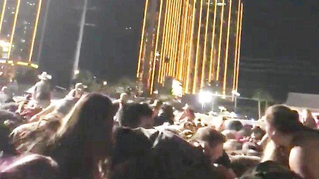 רגעי האימה בלאס וגאס (צילום: רויטרס)