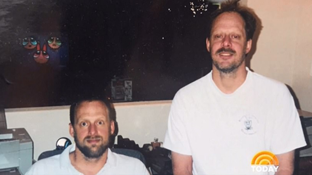 Brother Eric (L( and shooter Stephen Paddock