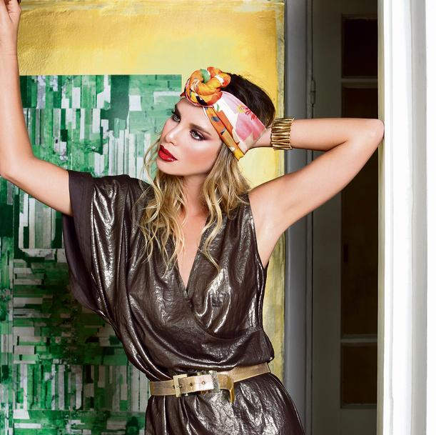 שמלה: דינה גלס במרמלדה מרקט, 240 שקל  טורבן: צעיף taldrori.com  חגורה: אוסף פרטי