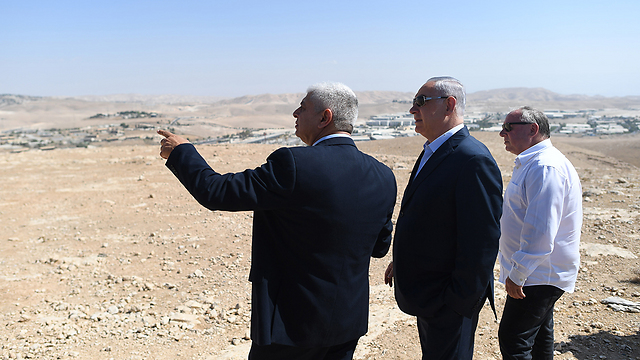 Netanyahu in Ma'ale Adumim (Photo: Kobi Gideon/GPO)