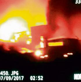 המפעל האיראני שהושמד בסוריה לפני כחודש. החשש: תרחיש שבו 20 טילים מדויקים ישביתו את המדינה