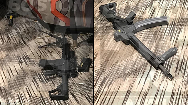 Two of the guns used by Paddock