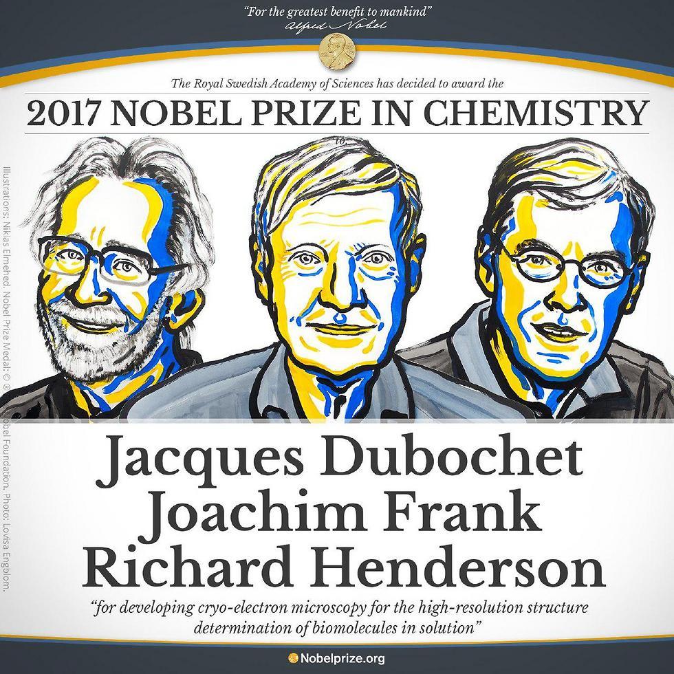 שלושת הזוכים בפרס נובל בכימיה ()