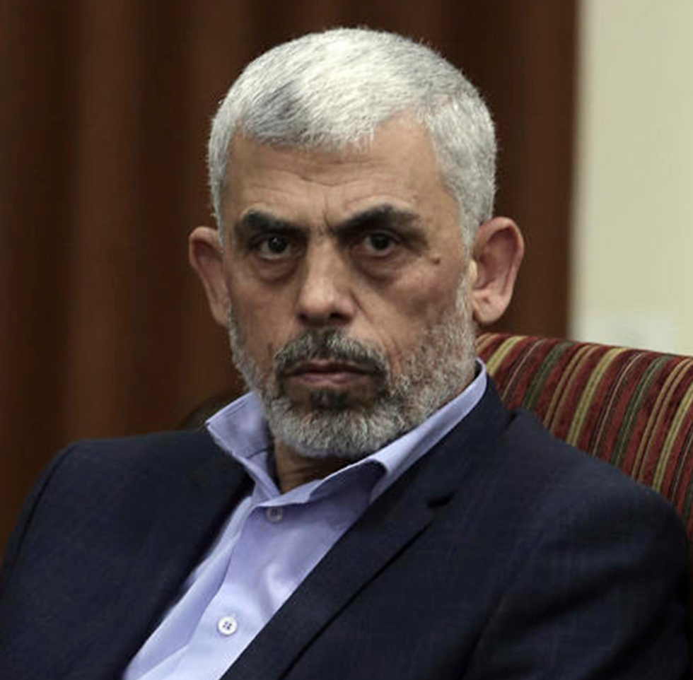 Hamas leader in Gaza, Yahya Sanwar. There's no way he'll touch the 40,000 members of Hamas' military wing and the Islamic Jihad gunmen  (Photo: AP)