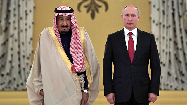 New alliance? Russian President Putin with Saudi King Salman