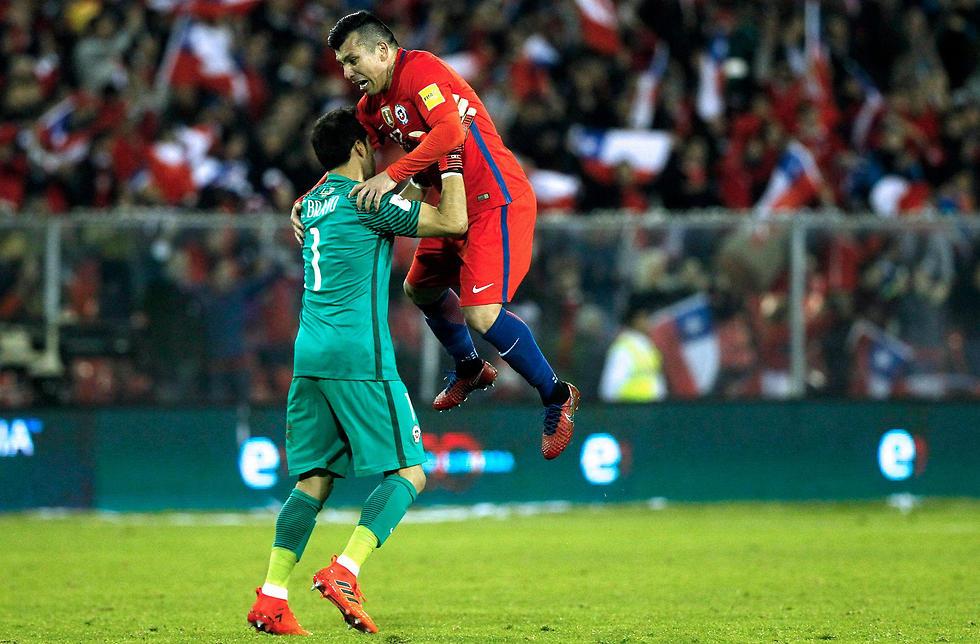 מדל ובראבו. אקסטזה צ'יליאנית (צילום: AFP) (צילום: AFP)