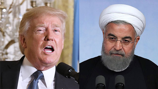 Donald Trump and Hassan Rouhani (Photo: AP, MCT)