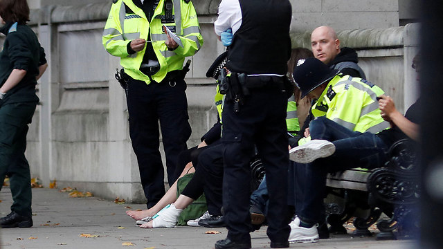 London police at the scene of the incident (Photo: Reuters)