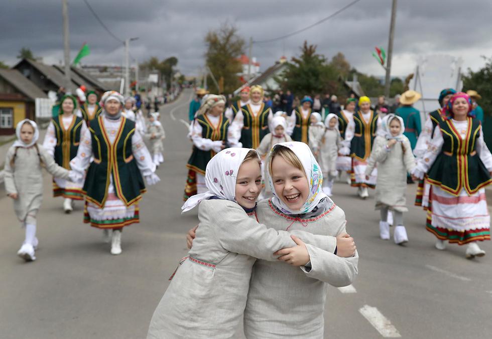 פסטיבל האסיף בסמולביצ'י, בלארוס (צילום: AP)