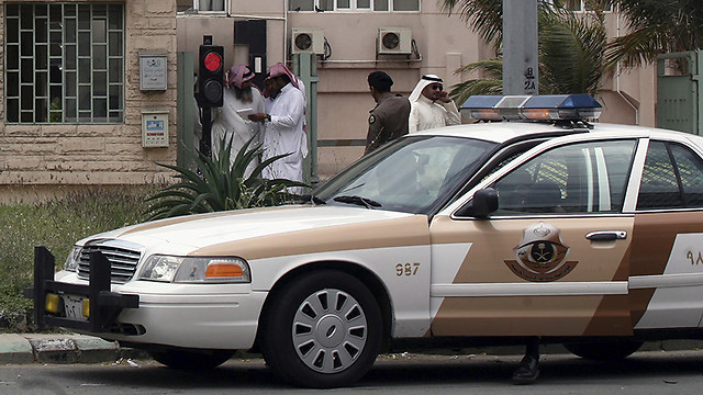 Saudi police arrive on the scene (Photo: Reuters)