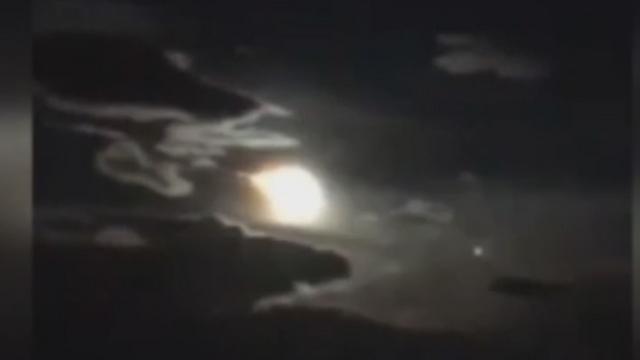 מטאור בליל ירח מלא