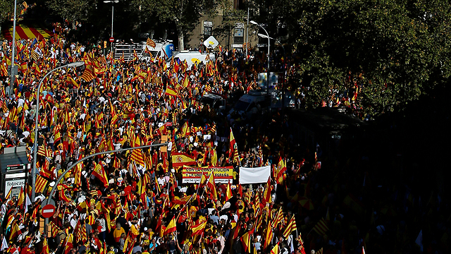 Anti-secession rally in Barcelona (Photo: AP)