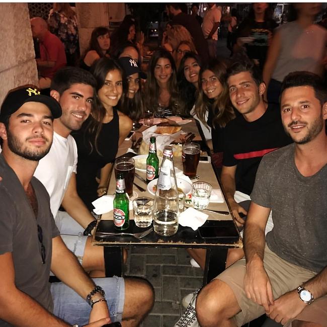 נבחרת ספרד מרימה בתל אביב (צילום מסך)