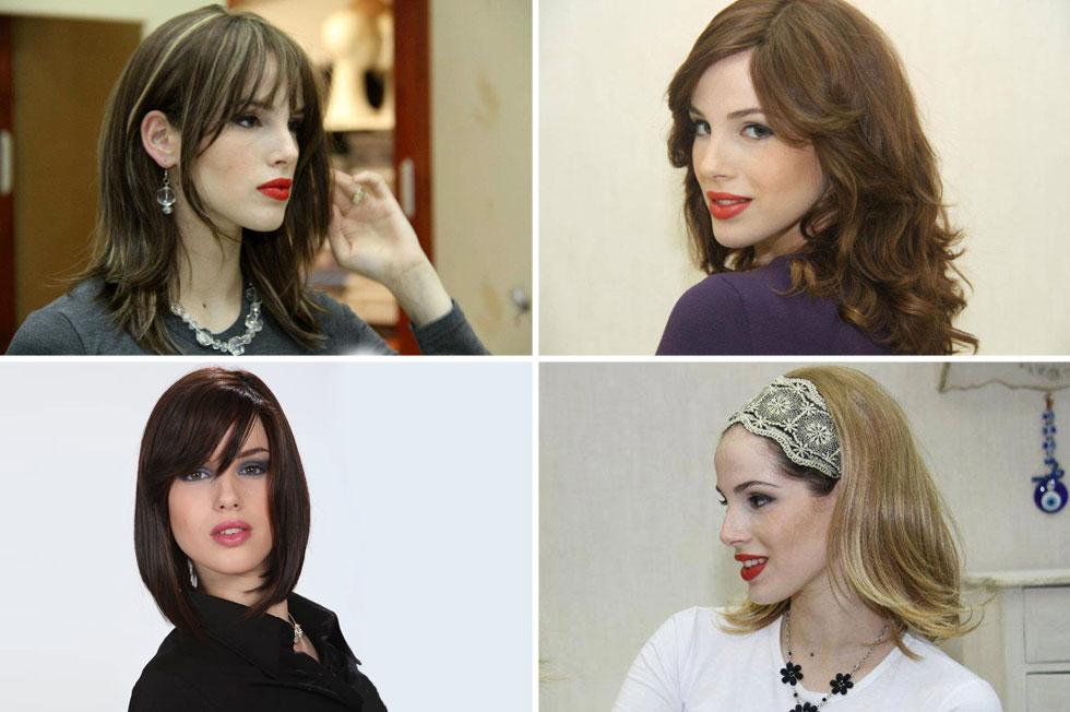 """""""גם אם השיער של הפאה יפה יותר מהשיער הרגיל של האישה, זה עדיין לא אומר שהיא לא צנועה, כי עדיין יש כאן אמירה שהאישה מדגישה כלפי חוץ: אני נאה אבל אני לא זמינה, אני נשואה"""". בתיה שיף בפאות של ציפי בנאי (צילום: פאות ציפי בנאי)"""