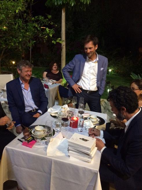 ערב לכבודו של הסופר אוסקר לאלו (צילום: Romuald Bolliger, Swiss Embassy)