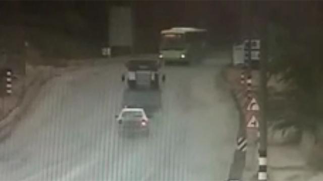 שניות לפני התאונה