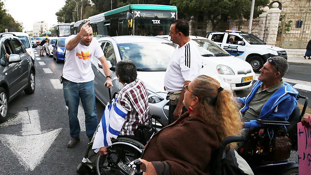 The disabled protest will once again be coming to Jerusalem (Photo: Amit Shabi)