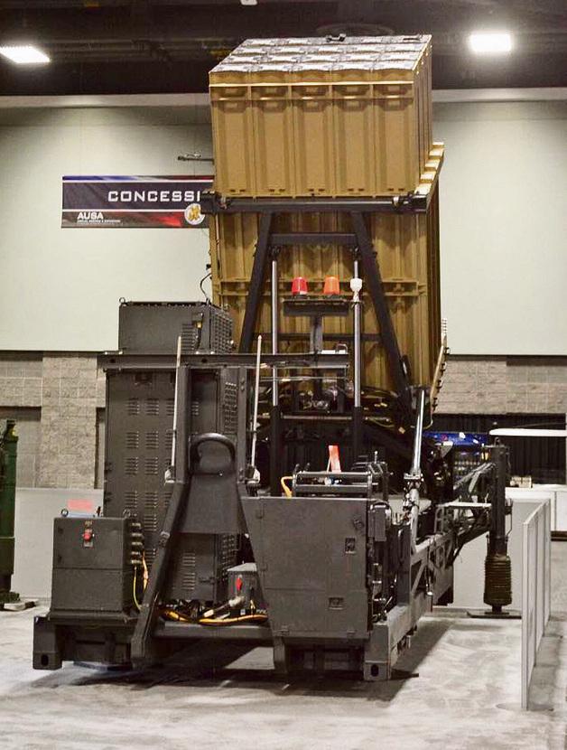 מערכת כיפת ברזל המוצגת בתערוכה AUSA בוושינגטון | צילום: רפאל