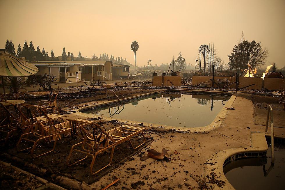 אתר נופש שנחרב בקליפורניה (צילום: AFP)