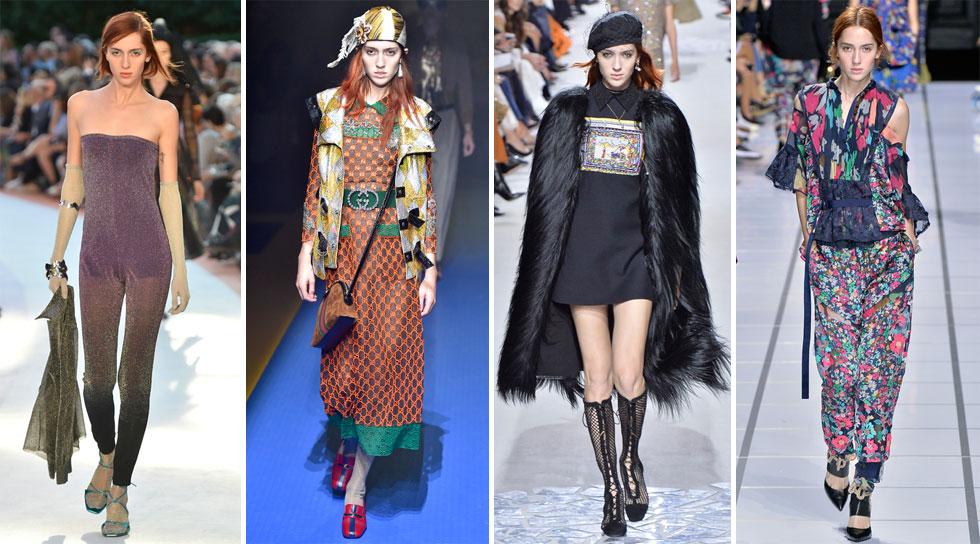 אחת הדוגמניות המדוברות ביותר בסבב שבועות האופנה בעולם. טדי קווינליבן בתצוגות של Sacai, דיור, גוצ'י ומיסוני (צילום: Gettyimages)
