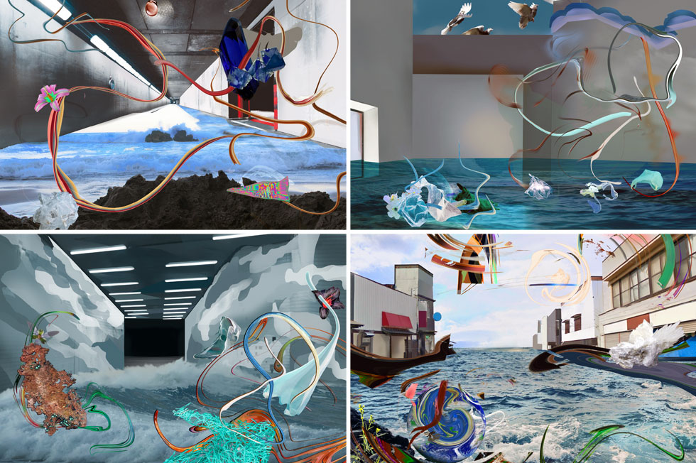האנדרלמוסיה הנוצרת בין החיים מעל המים ומתחת להם. מתוך עבודותיה של האמנית אלה גורנר (צילום: סטודיו אדידס)
