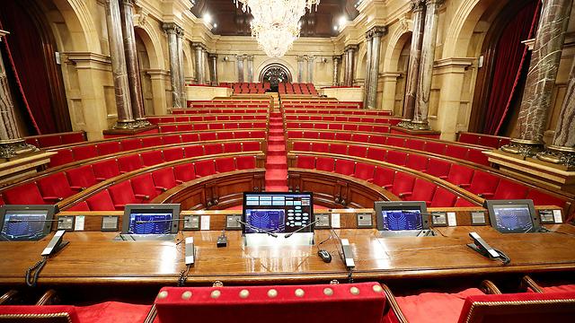 הפרלמנט של קטלוניה. בית המשפט החוקתי אסר עליו להתכנס (צילום: רויטרס)