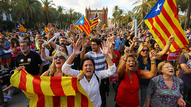 Pro-Catalan independence rallly (Photo: Reuters)