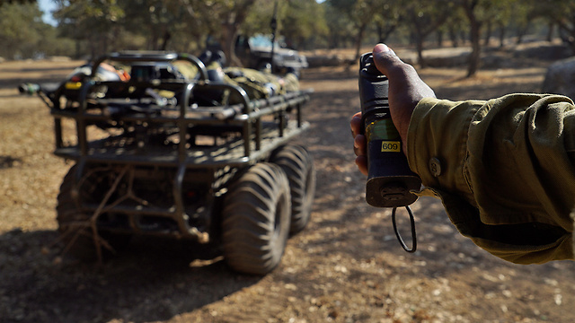 IDF remote-controlled vehicles (Photo: IDF Spokesperson's Unit)