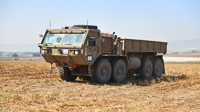 A driverless truck (Photo: IDF Spokesperson's Unit)