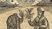 """באדיבות הספרייה הלאומית. חיתוך עץ מתוך הספר """"מנהגים"""", יצא לאור באמסטרדם בשנת 1661 על ידי אורי וויי"""