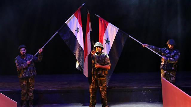 The Syrian play marking the 1973 war (Photo: EPA)