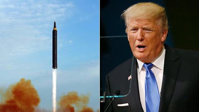 Nuclear war head and Trump (R) (Photo: AP)