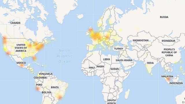 """התקלה מורגשת בעיקר בארה""""ב ובאירופה"""