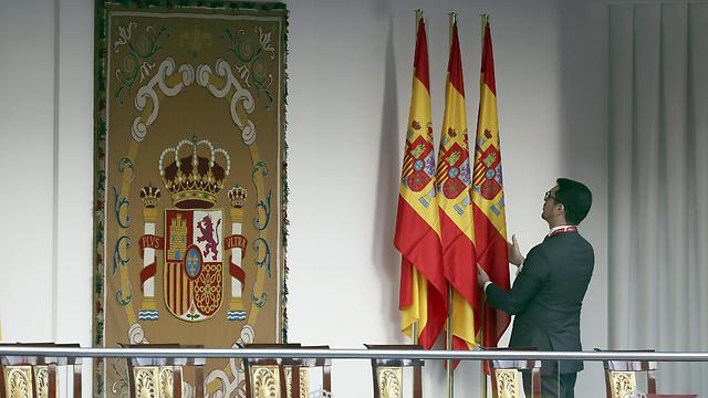 ספרד מתמרקת לכבוד החג הלאומי (צילום: EPA)