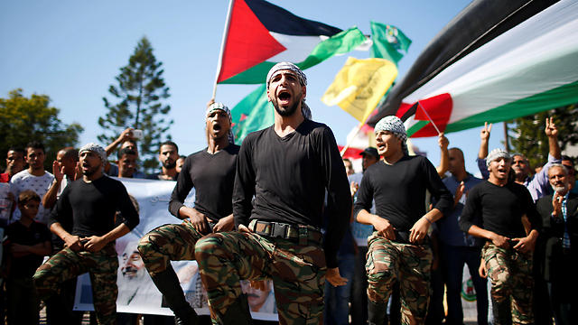 Celebrations in Gaza following the reconciliation agreement's signing (Photo: Reuters)