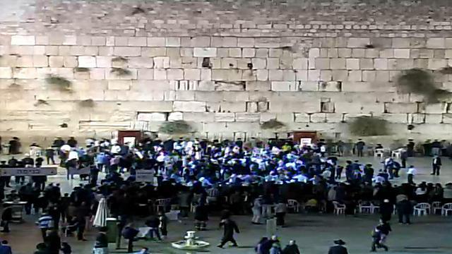שישו ושמחו - רוקדים בכותל עם מאה ספרי תורה (צילום: הקרן למורשת הכותל המערבי)