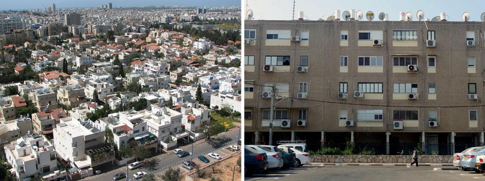 אין ישראל בלי דודי שמש (עכו מימין, גבעת שמאל משמאל). דודי שמש מוכיחים שאדריכלות ירוקה הייתה כאן כבר בשנות החמישים (צילום: מיכאל יעקובסון)