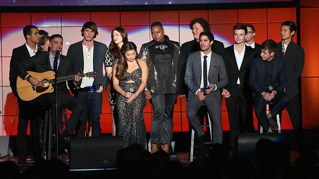 סלינג עם כוכבי Glee (Gettyimages) (Gettyimages)