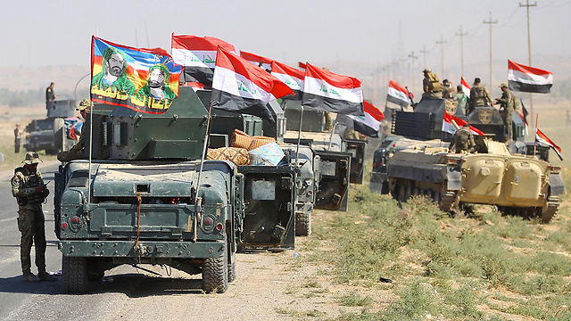 Iraqi forces on the outskirts of Kirkuk (Photo: AFP)