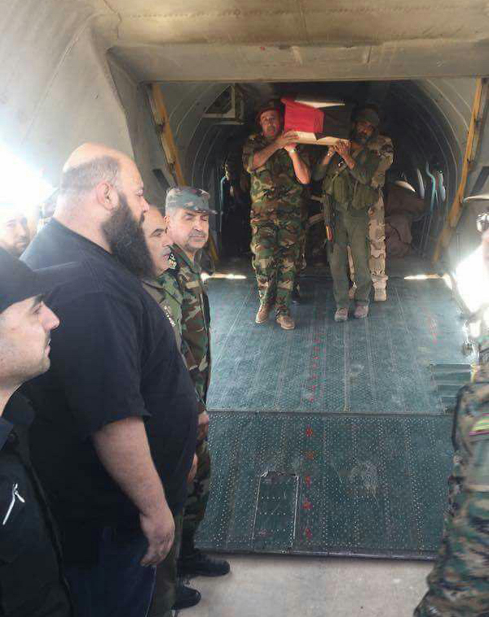 Zahreddine's coffin is brought to Damascus