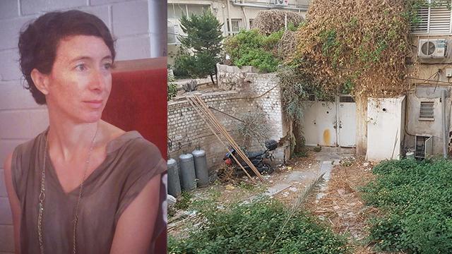 איילת גונדר גושן וחצר אחורית תל אביבית טיפוסית (צילומים: מתוך אלבום פרטי)