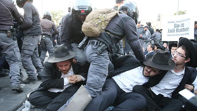 Haredi protests often turned violent (Photo: Amit Shabi)