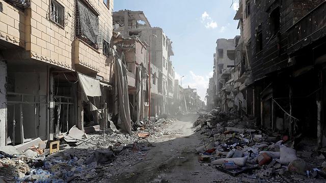 הרס בסוריה כתוצאה מהלחימה בדאעש. ארכיון (צילום: רויטרס) (צילום: רויטרס)
