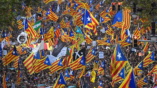 Pro-Catalan independence rally (Photo: AFP)