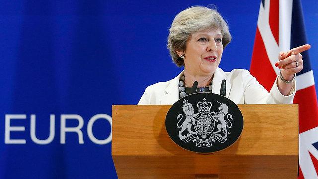 ראש ממשלת בריטניה, תרזה מיי (צילום: EPA)