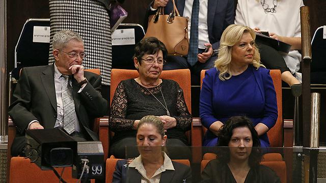 אשת ראש הממשלה ונשיאת בית המשפט העליון היוצאת מרים נאור  (צילום: אוהד צויגנברג) (צילום: אוהד צויגנברג)