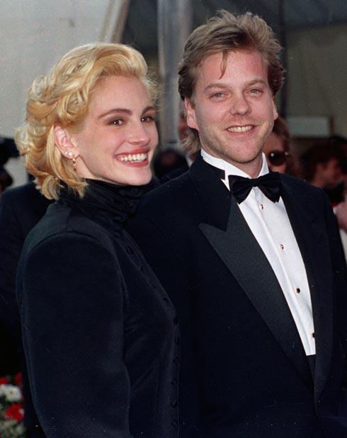 מהפך השיער הראשון: קארה בלונדיני בזמן הזוגיות עם קיפר סאתרלנד, 1991 (צילום: AP)